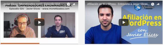 Entrevistas a Javier Élices (monetizados.com) sobre curso Monetiza tu Pasión