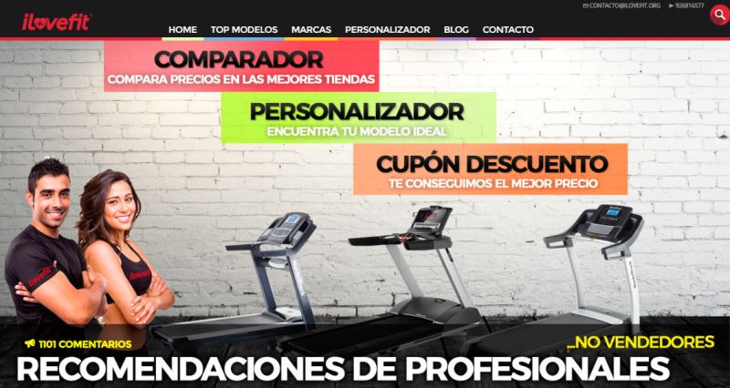 Ejemplo de web que se puede crear con el curso monetiza tu pasión: cintascorrer.net