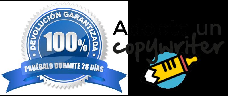 Garantía de devolución y satisfacción del 100% del dinero del curso Adopta un copywriter