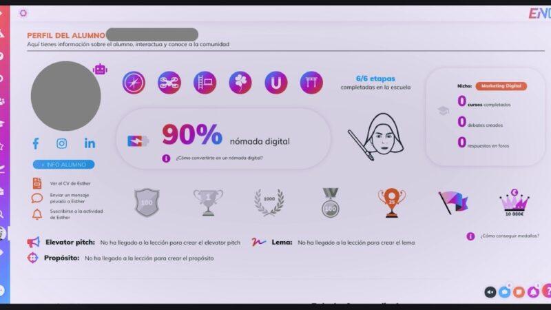 Opinión de la Escuela Nómadas Digitales de Antonio G. (gamificación del programa)