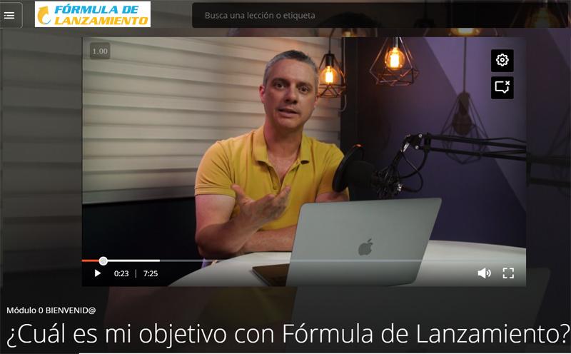 Lección en vídeo del curso online Fórmula de Lanzamiento