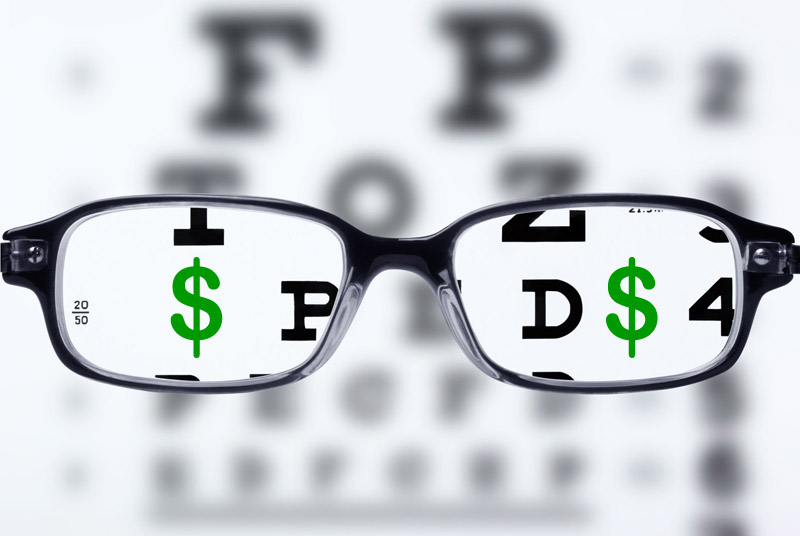 Opinión curso online Volver a Ver Claro de Ainhoa de Federico. Gafas con el símbolo del dólar