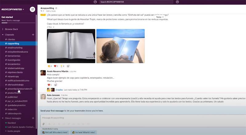 Análisis y opiniones del programa online Soy Copywriter para formarte como copywriter redactor. Comunidad de alumnos